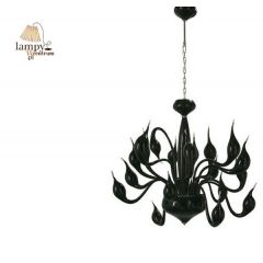 Lampa żyrandol 20 płomienny DECORI 20 czarny Sinus MD8017/20