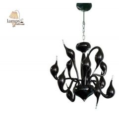 Lampa żyrandol 12 płomienny DECORI 12 czarny Sinus MD8017/12