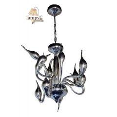 Lampa żyrandol 12 płomienny DECORI 12 srebrny Sinus MD8017/12