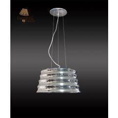 Lampa zwis pojedynczy LULU chrom mały Sinus P6027-1-350