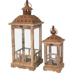 Lampion Drewniany Kpl  74244