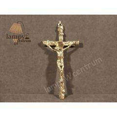 Krzyż wiszący z pasyjką Mosiądz nr. 104