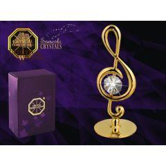 Statuetka klucza wiolinowego z kryształem Swarovskiego 122-0157