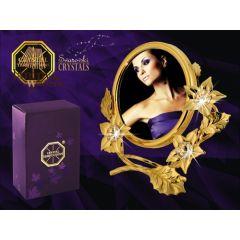 Okrągła ramka z kryształami Swarovskiego 122-0185
