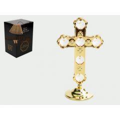 Krzyż z kryształami Swarovskiego 122-0072