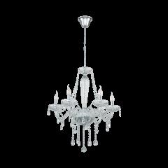Lampa żyrandol 6 płomienny BASILANO 1 Glass Chandeliers EGLO 39099
