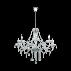 Lampa żyrandol 8 płomienny BASILANO 1 Glass Chandeliers EGLO 39101