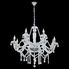 Lampa żyrandol 12 płomienny BASILANO 1 Glass Chandeliers EGLO 39102
