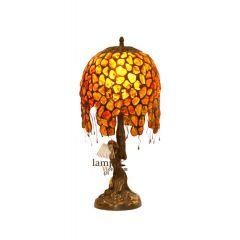 Lamp biurkowa Kobieta na skałce Bursztyn B11