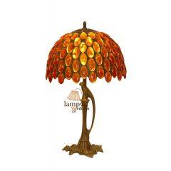 Lampa średnia stojąca na ptaku Bursztyn S1