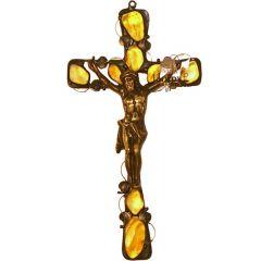Krzyż wiszący Bursztyn K1N
