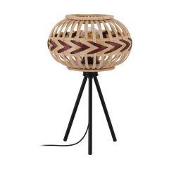 Dondarrion Lampa stołowa H 41,5cm 1 płom. czarna/drewno EGLO 43274