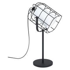 BITTAMS Lampa stołowa z abażurem 1 płom. czarna/biała  EGLO 43421