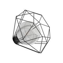 VERNHAM Lampa stołowa 1 płom. Ø 32,5cm czarna EGLO 43484