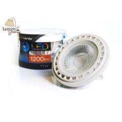 Żarówka LED QR111 12V 17W 45° G53 biała ramka Azzardo AZ1109