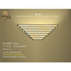 Lampa kinkiet 2 płom. Olimpia K1A IKARO