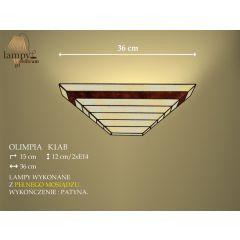 Lampa kinkiet 2 płom. Olimpia K1AB IKARO