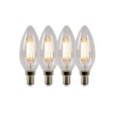 E14 Żarówka LED Ø 3,5 cm - LED Dim. 4x4W 2700K 4szt Lucide 49023/14/60