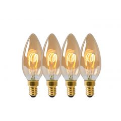 E14 Żarówka LED Ø 3,5 cm - LED Dim. 4x3W 2200K 4szt Lucide 49043/14/62