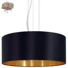 Lampa żyrandol 3 płomienny MASERLO czarny duży EGLO 31605