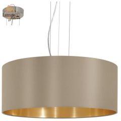 Lampa żyrandol 3 płomienny MASERLO taupe duży EGLO 31607