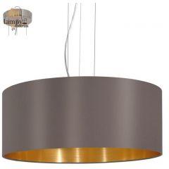 Lampa żyrandol 3 płomienny MASERLO cappuccino duży EGLO 31608