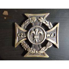 Krzyż Harcerski 6,5cm mosiądz