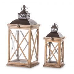 Lampion Drewniany Kpl. 74247