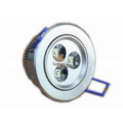 Lampa LED 3x1W do zabudowy D80SL