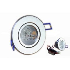 Lampa LED 3x1W do zabudowy D90