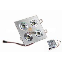 Lampa LED 4x1W do zabudowy 125X125SL