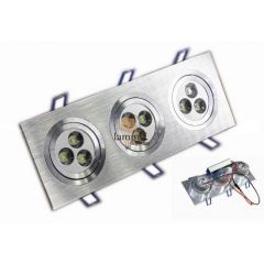 Lampa LED 9x1W do zabudowy 93X255SL