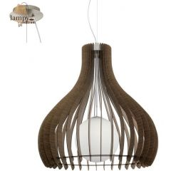 Lampa zwis pojedynczy TINDORI brązowy 80cm EGLO 96219