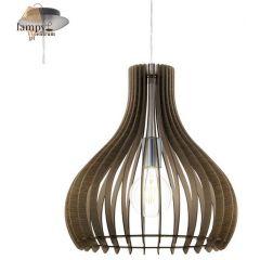 Lampa zwis pojedynczy TINDORI brązowy 38cm EGLO 96259