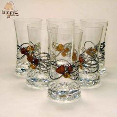 Szklanka szkło bursztyn DRINK