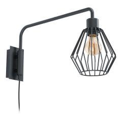 TABILLANO lampa kinkiet 1 płom. czarna EGLO 99349