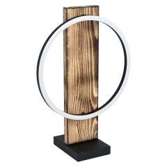 BOYAL Lampa stołowa LED 12W 3000K ciemne drewno/czarna EGLO 99457