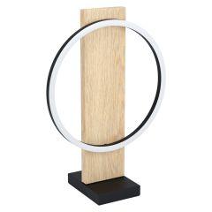 BOYAL Lampa stołowa LED 12W 3000K jasne drewno/czarna EGLO 99469