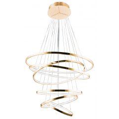 Wheel 6 Long Dimm lampa wisząca LED złota Azzardo AZ2921
