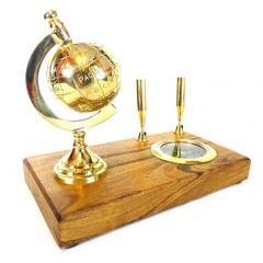Zestaw na biurko: globus, kompas, uchwyty na długopisy  NC2144E