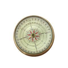 Kompas soczewkowy - mosiądz i szkło NC2119