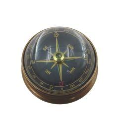 Kompas mosiężny soczewkowy - czarna tarcza NC2300