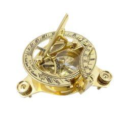 Mosiężny zegar słoneczny z kompasem NC1070