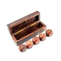 Gra  w kości w pudełku drewnianym GMS-0132