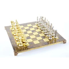Ekskluzywne, duże  szachy metalowe -  Renesans S9BRO ; 36x36cm