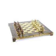 Ekskluzywne szachy metalowe  Bizancjum, szachownica 20x20cm; S1CBRO