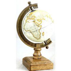 Globus White World na podstawie drewnianej NC2130