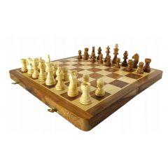 SZA14  składane drewniane szachy 35x35cm