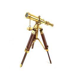 Mosiężna luneta na drewnianym trójnogu Tel -0188
