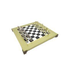 Ekskluzywne szachy mosięzne Staunton S32BLA 28x28cm